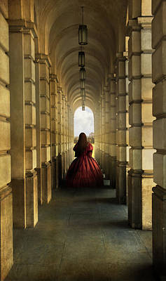 Photograph - Dark Red Dress by Jaroslaw Blaminsky