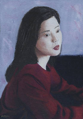 Painting - Red Dress by Masami Iida