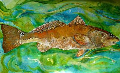 Beach Landscape Mixed Media - Red Drum by Jenny Pollard