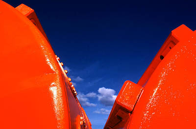 Photograph - Red Drums Blue Sky by Robert  Rodvik