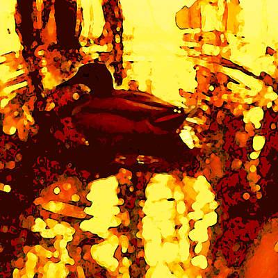 Red Duck Lake 6 Art Print by Amy Vangsgard