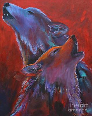 Red Dusk Art Print by Cher Devereaux