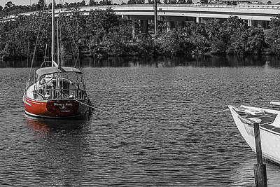 Photograph - Red E 2 Sail by Barry Jones