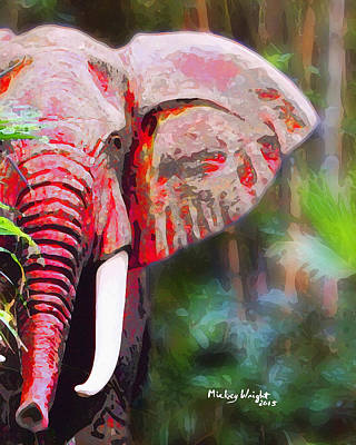 Photograph - Red Elephant by Mickey Wright