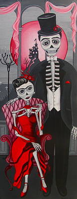 Painting - Red Engagement - Frida Y Diego by Evangelina Portillo