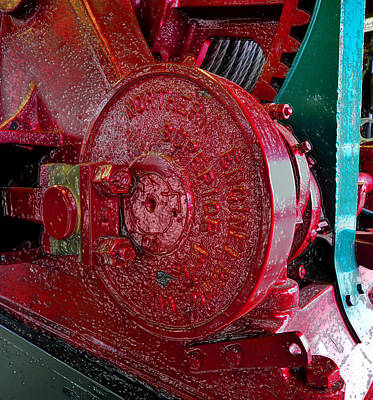 Photograph - Red Engine by David Lee Thompson