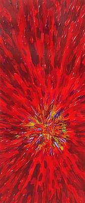 Painting - Red Explosion 14-37 by Patrick OLeary