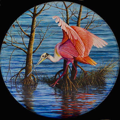 Nature Center Painting - Red Eye by AnnaJo Vahle