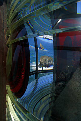 Photograph - Red Eye At Cape Meares Lighthouse by Daniel Woodrum
