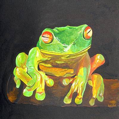 Painting - Red Eyed Tree Frog by Tracey Harrington-Simpson