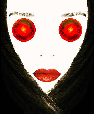 Red Eyes Art Print by Bruce Iorio