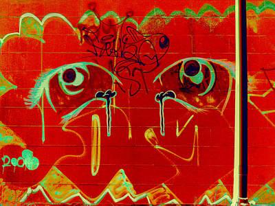 Painting - Red Eyes  by Shane Dufoe