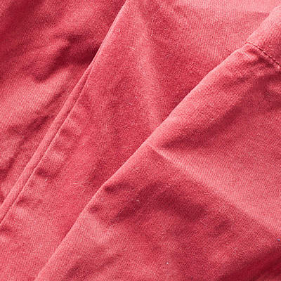 Cotton Paper Photograph - Red Fabric by Tom Gowanlock