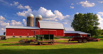 Photograph - Red Farm by Dale Kauzlaric