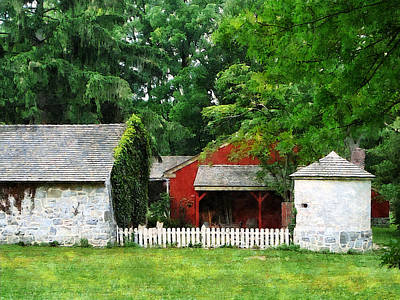 Red Farm Shed Print by Susan Savad