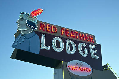 Red Feather Lodge Art Print
