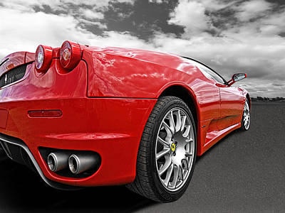 Photograph - Red Ferrai F430 by Gill Billington