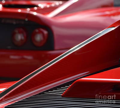 Photograph - Red Ferrari's by Dean Ferreira