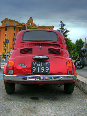 Photograph - Red Fiat 500 by Vlad Baciu