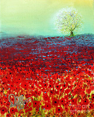 Painting - Red Fields by David Kacey