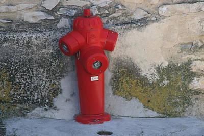 Photograph - Red Fire Figure by Phoenix De Vries