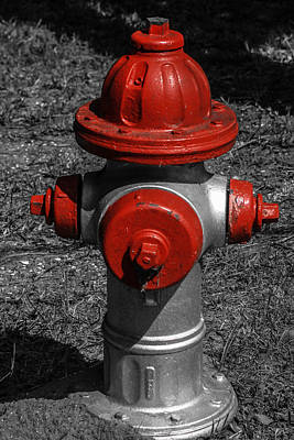 Red Fire Hydrant Art Print by Steven  Taylor