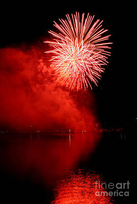 4th July Photograph - Red Fire by Martin Capek