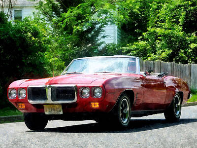 Red Firebird Convertible Art Print by Susan Savad