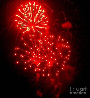 Photograph - Red Fireworks by Janette Boyd