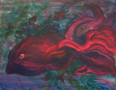 Red Fish Art Print by Sheri Lauren Schmidt