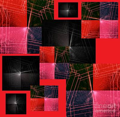 Popular Mixed Media - Red Flare by Ann Calvo