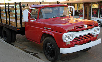 Photograph - Red Flatbed Ford by Tikvah's Hope