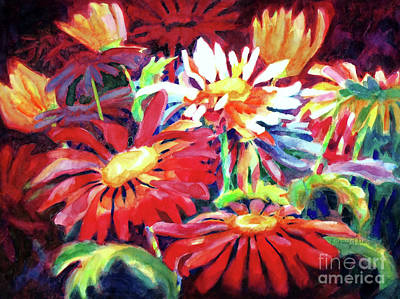 Intense Painting - Red Floral Mishmash by Kathy Braud
