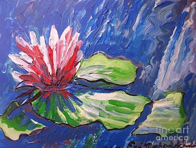 Lavender Drawing - Red Flower Impressionism by Eric  Schiabor