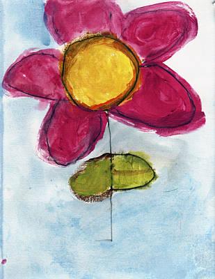 Red Flower Art Print by Skip Nall