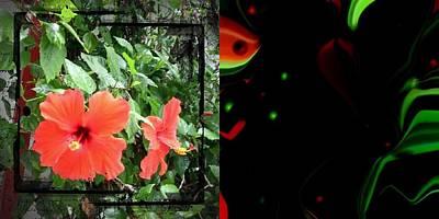 Etc. Digital Art - Red Flowers by HollyWood Creation By linda zanini