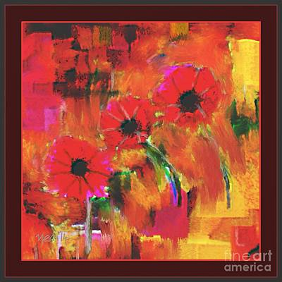 Red Flowers Art Print by Nedunseralathan R