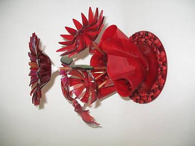 Red Flowers Art Print by Steven Schramek