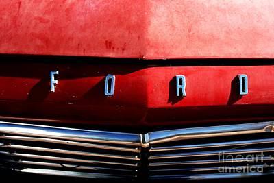 Red Ford 1 Art Print by Kathlene Pizzoferrato