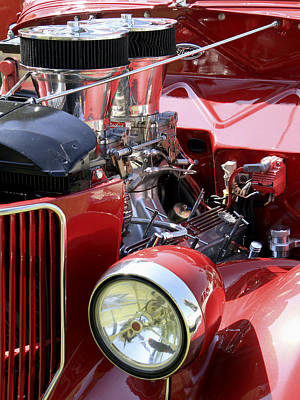Photograph - Red Ford by Bob Slitzan