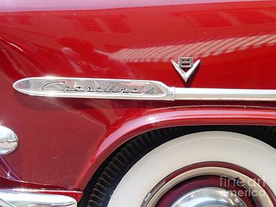 Art Print featuring the photograph Red Ford Crestline V8 by Ecinja Art Works
