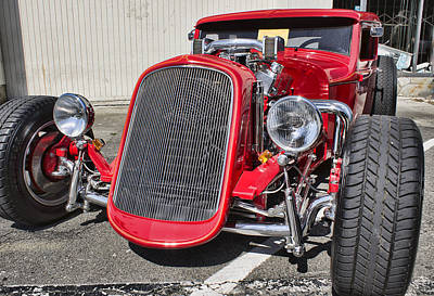 Photograph - Red Ford Hot Rod by Ron Roberts