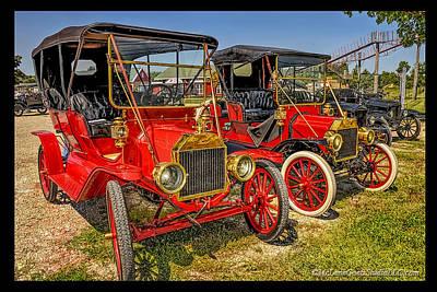Car Show Photograph - Red Ford  Model T S by LeeAnn McLaneGoetz McLaneGoetzStudioLLCcom