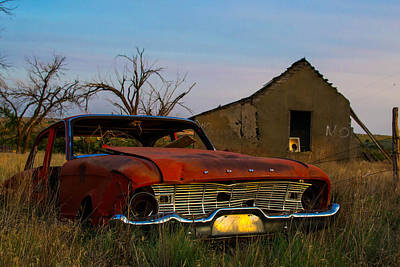 Abandoned Photograph - Red Ford by Nathan Hillis