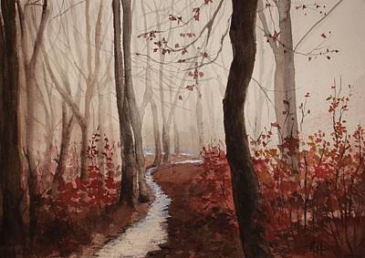 Painting - Red Forest by Rachel Hames
