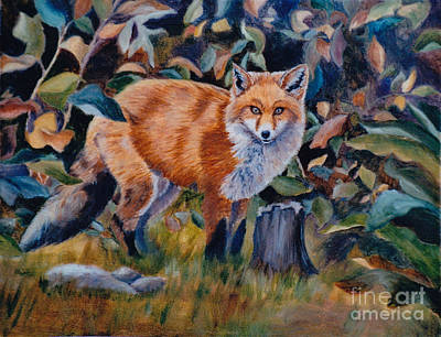 Painting - Red Fox by Brenda Thour