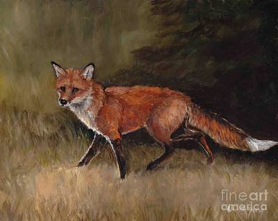 Painting - Red Fox by Charlotte Yealey