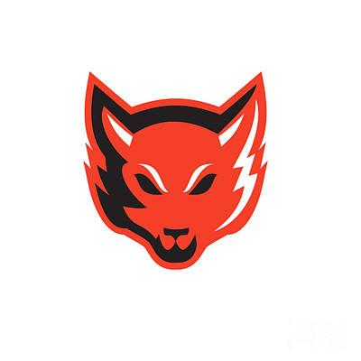 Red Fox Head Front  Art Print by Aloysius Patrimonio