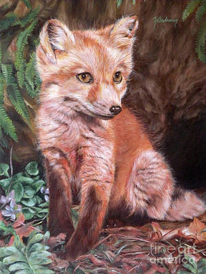 Fox Kit Painting - Red Fox Kit by Nancy Andresen