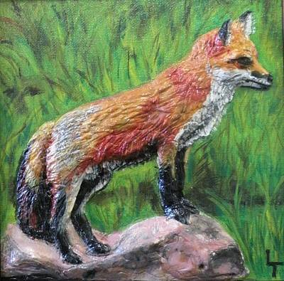 Red Fox Art Print by Lorrie T Dunks